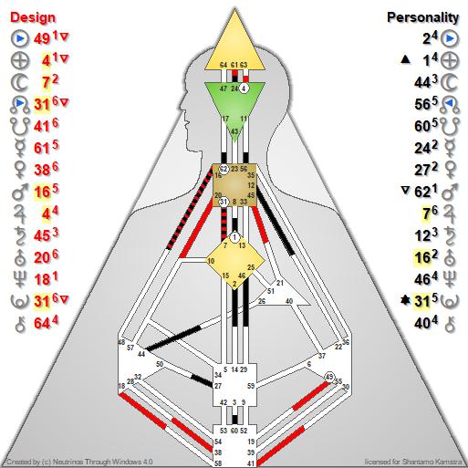 Human Design Chart of Punya Kaufeler