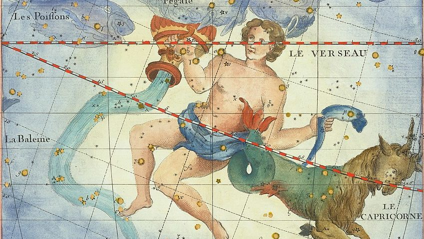 Aquarius on an ancient star chart