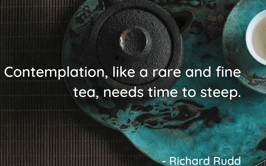 Brewing a cup of rare and fine tea